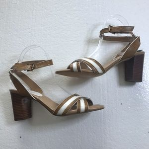 Tommy Hilfiger 9 M Strappy Open Toe Chunky Heels